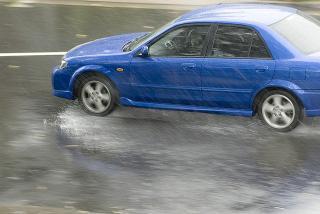 Rainy day driving
